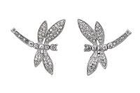 Sassy Clips Silver Petite Dragonfly with Clear Crystal Rhinestone Wings & Tail