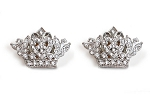 Sassy Clips Small Clear Crystal Rhinestones Silver Crown (COPY)