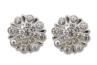Sassy Clips Silver Snowflake with Clear Crystal Rhinestones