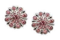 Sassy Clips Silver Snowflake with Rose Crystal Rhinestones