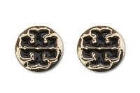 Sassy Clips Gold Large Coat of Arms with Black Enamel Design
