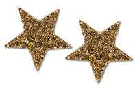 Sassy Clips Gold Star with Light Colorado Topaz Crystal Rhinestones