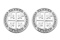 Sassy Clips Crystal  Silver Coat of Arms