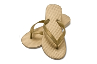 Sassy Flat Metallic Gold Color Flip Flop