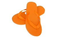 Sassy Flat Orange Color Flip Flop