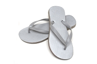 Sassy Flat Metallic Silver Color Flip Flop