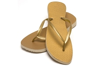 Sassy Slim Metallic Gold Color Flip Flop