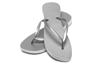 Sassy Slim Metallic Silver Color Flip Flop
