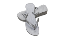 Sassy Wedge Metallic Silver Color Flip Flop
